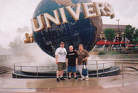My parents and myself at Universal Studios (Orlando,Fl)