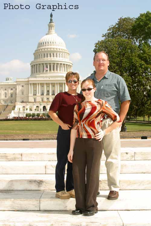 Renae, Krista and Steve at the Capitol