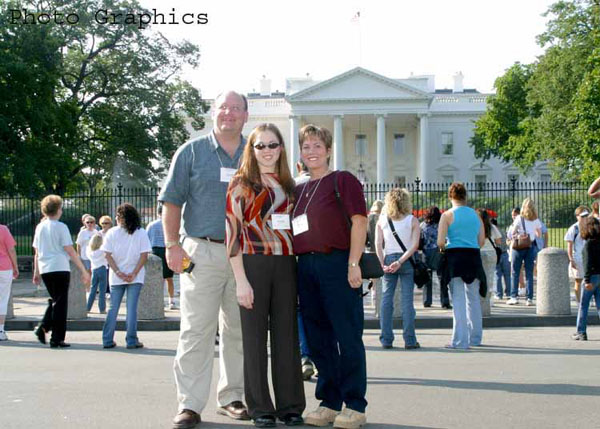 Steve, Krista, Ranae at the White House